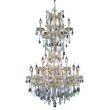 Elegant Lighting Maria Theresa 25 Light Gold Chandelier Clear Swarovski Elements Crystal (2800D30SG/SS)