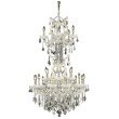 Elegant Lighting Maria Theresa 25 Light white Chandelier Clear Royal Cut Crystal (2800D30SWH/RC)