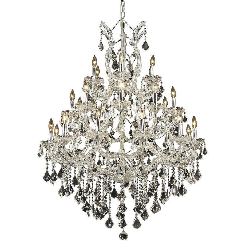 Elegant Lighting Maria Theresa 28 Light Chrome Chandelier Clear Elegant Cut Crystal (2800D38C/EC)