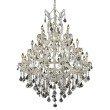 Elegant Lighting Maria Theresa 28 Light Chrome Chandelier Clear Spectra Swarovski Crystal (2800D38C/SA)
