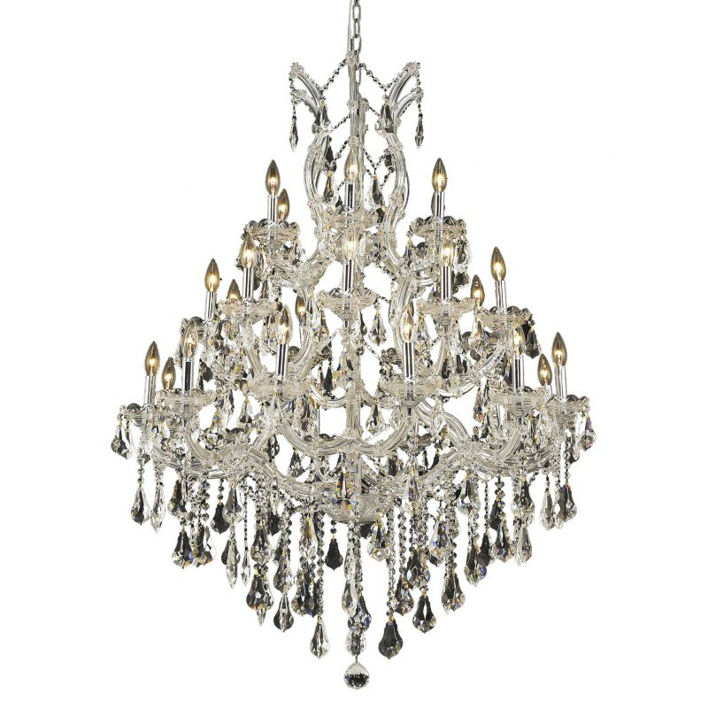 Elegant Lighting Maria Theresa 28 Light Chrome Chandelier Clear Swarovski Elements Crystal (2801D38C/SS)