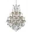 Elegant Lighting Maria Theresa 28 Light Golden Teak Chandelier Golden Teak (Smoky) Swarovski Elements Crystal (2800D38GT-GT/SS)