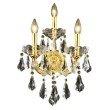 Elegant Lighting Maria Theresa 3 Light Gold Wall Sconce Clear Royal Cut Crystal (2801W3G/RC)
