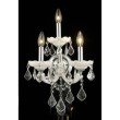 Elegant Lighting Maria Theresa 3 Light white Wall Sconce Clear Swarovski Elements Crystal (2800W3WH/SS)
