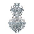 Elegant Lighting Maria Theresa 34 Light Chrome Chandelier Clear Elegant Cut Crystal (2800D36SC/EC)