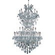 Elegant Lighting Maria Theresa 34 Light Chrome Chandelier Clear Royal Cut Crystal (2801D36SC/RC)