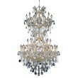 Elegant Lighting Maria Theresa 34 Light Gold Chandelier Clear Elegant Cut Crystal (2800D36SG/EC)