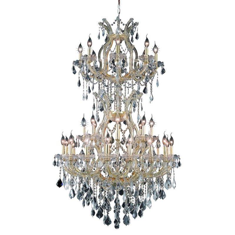 Elegant Lighting Maria Theresa 34 Light Gold Chandelier Clear Swarovski Elements Crystal (2800D36SG/SS)