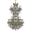 Elegant Lighting Maria Theresa 34 Light Golden Teak Chandelier Golden Teak (Smoky) Royal Cut Crystal (2800D36SGT-GT/RC)