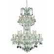 Elegant Lighting Maria Theresa 36 Light Chrome Chandelier Clear Royal Cut Crystal (2800D46C/RC)