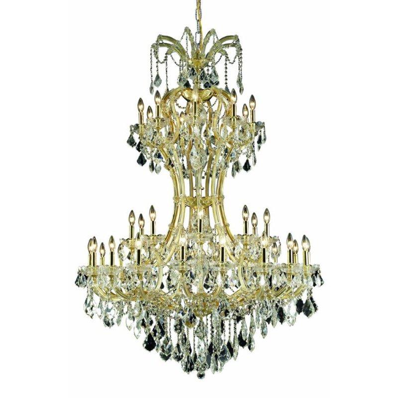 Elegant Lighting Maria Theresa 36 Light Gold Chandelier Clear Swarovski Elements Crystal (2800D46G/SS)