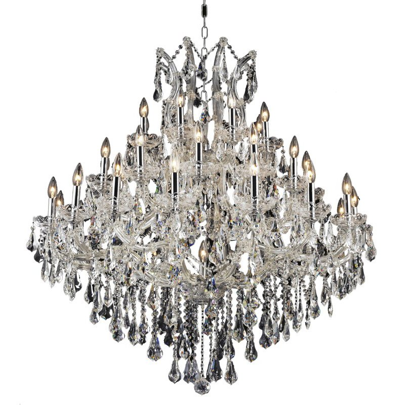 Elegant Lighting Maria Theresa 37 Light Chrome Chandelier Clear Royal Cut Crystal (2801G44C/RC)