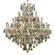 Elegant Lighting Maria Theresa 37 Light Chrome Chandelier Golden Teak (Smoky) Royal Cut Crystal (2800G44C-GT/RC)