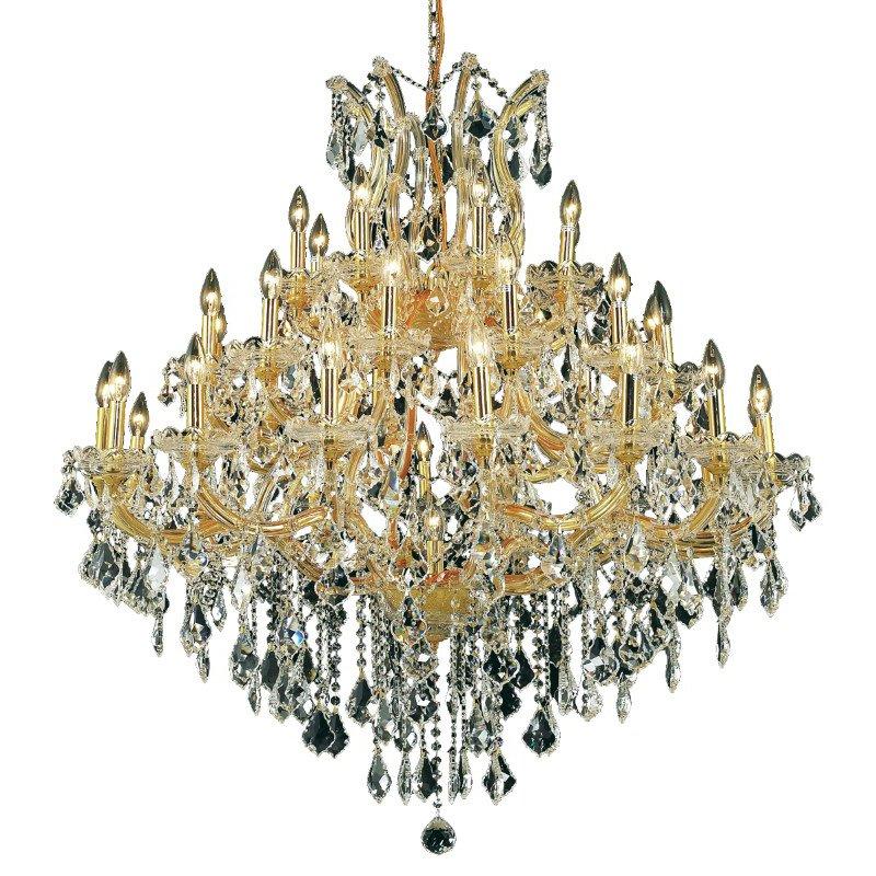 Elegant Lighting Maria Theresa 37 Light Gold Chandelier Clear Royal Cut Crystal (2800G44G/RC)