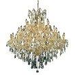 Elegant Lighting Maria Theresa 37 Light Gold Chandelier Clear Royal Cut Crystal (2801G44G/RC)