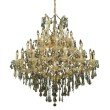 Elegant Lighting Maria Theresa 37 Light Gold Chandelier Golden Teak (Smoky) Royal Cut Crystal (2801G44G-GT/RC)