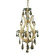 Elegant Lighting Maria Theresa 4 Light Gold Chandelier Golden Teak (Smoky) Royal Cut Crystal (2801D12G-GT/RC)