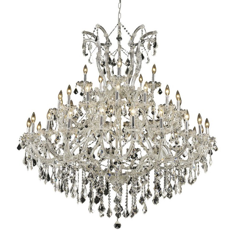 Elegant Lighting Maria Theresa 41 Light Chrome Chandelier Clear Spectra Swarovski Crystal (2800G52C/SA)