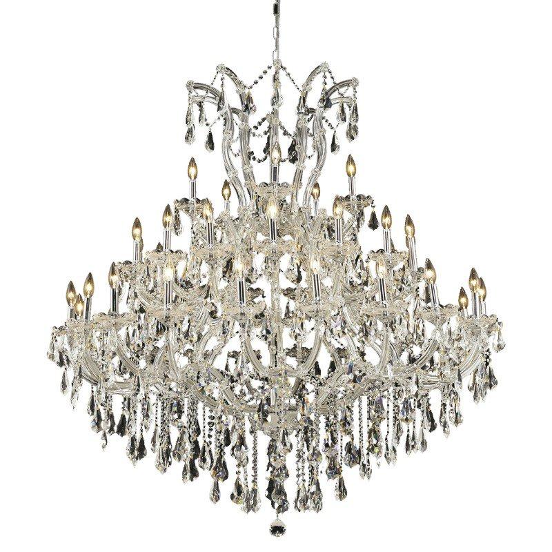 Elegant Lighting Maria Theresa 41 Light Chrome Chandelier Clear Swarovski Elements Crystal (2801G52C/SS)