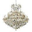 Elegant Lighting Maria Theresa 41 Light Chrome Chandelier Golden Teak (Smoky) Royal Cut Crystal (2800G52C-GT/RC)