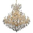 Elegant Lighting Maria Theresa 41 Light Gold Chandelier Clear Royal Cut Crystal (2801G52G/RC)