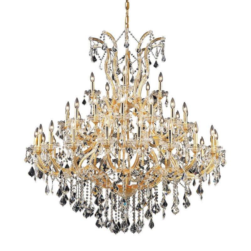 Elegant Lighting Maria Theresa 41 Light Gold Chandelier Clear Spectra Swarovski Crystal (2800G52G/SA)