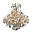 Elegant Lighting Maria Theresa 41 Light Gold Chandelier Clear Swarovski Elements Crystal (2801G52G/SS)