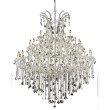 Elegant Lighting Maria Theresa 49 Light Chrome Chandelier Clear Elegant Cut Crystal (2800G60C/EC)