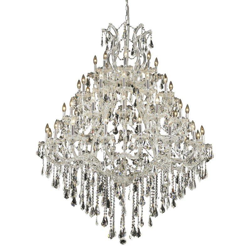 Elegant Lighting Maria Theresa 49 Light Chrome Chandelier Clear Royal Cut Crystal (2801G46C/RC)