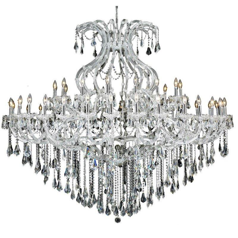Elegant Lighting Maria Theresa 49 Light Chrome Chandelier Clear Royal Cut Crystal (2801G72C/RC)