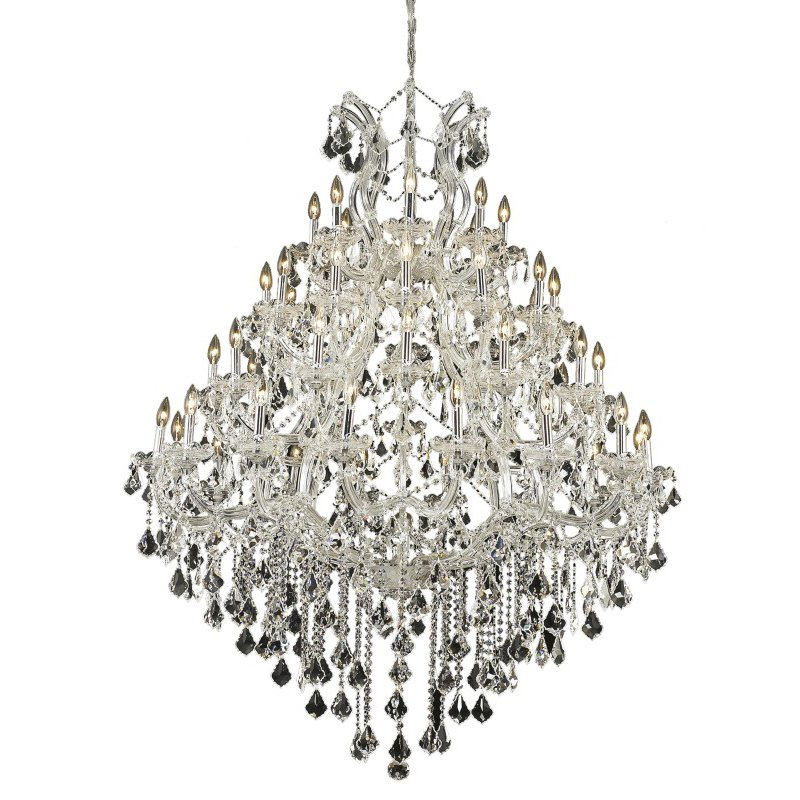 Elegant Lighting Maria Theresa 49 Light Chrome Chandelier Clear Spectra Swarovski Crystal (2800G46C/SA)