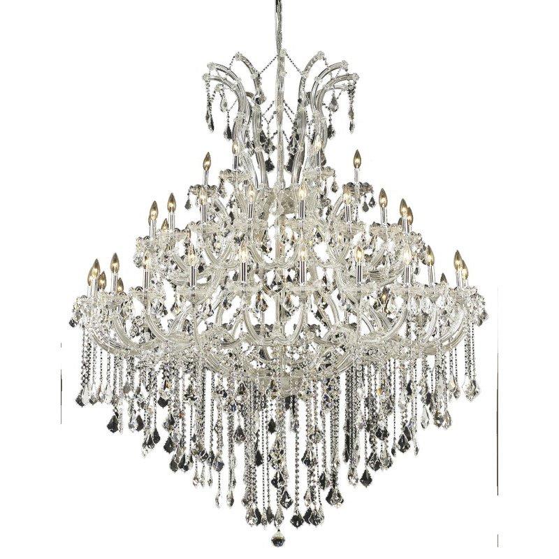 Elegant Lighting Maria Theresa 49 Light Chrome Chandelier Clear Spectra Swarovski Crystal (2800G60C/SA)