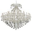 Elegant Lighting Maria Theresa 49 Light Chrome Chandelier Clear Swarovski Elements Crystal (2800G72C/SS)