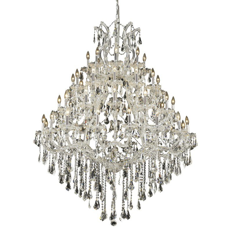 Elegant Lighting Maria Theresa 49 Light Chrome Chandelier Clear Swarovski Elements Crystal (2801G46C/SS)