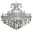 Elegant Lighting Maria Theresa 49 Light Chrome Chandelier Golden Teak (Smoky) Swarovski Elements Crystal (2800G72C-GT/SS)