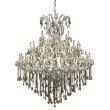 Elegant Lighting Maria Theresa 49 Light Chrome Chandelier Golden Teak (Smoky) Swarovski Elements Crystal (2801G60C-GT/SS)