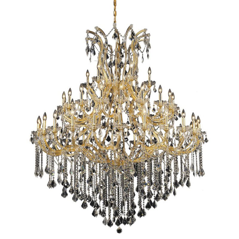 Elegant Lighting Maria Theresa 49 Light Gold Chandelier Clear Royal Cut Crystal (2800G60G/RC)