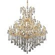 Elegant Lighting Maria Theresa 49 Light Gold Chandelier Clear Royal Cut Crystal (2801G60G/RC)