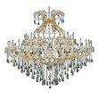 Elegant Lighting Maria Theresa 49 Light Gold Chandelier Clear Royal Cut Crystal (2801G72G/RC)