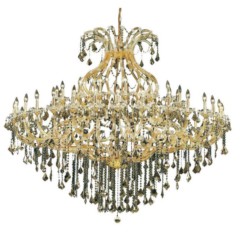 Elegant Lighting Maria Theresa 49 Light Gold Chandelier Clear Spectra Swarovski Crystal (2800G72G/SA)