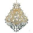 Elegant Lighting Maria Theresa 49 Light Gold Chandelier Clear Swarovski Elements Crystal (2800G46G/SS)