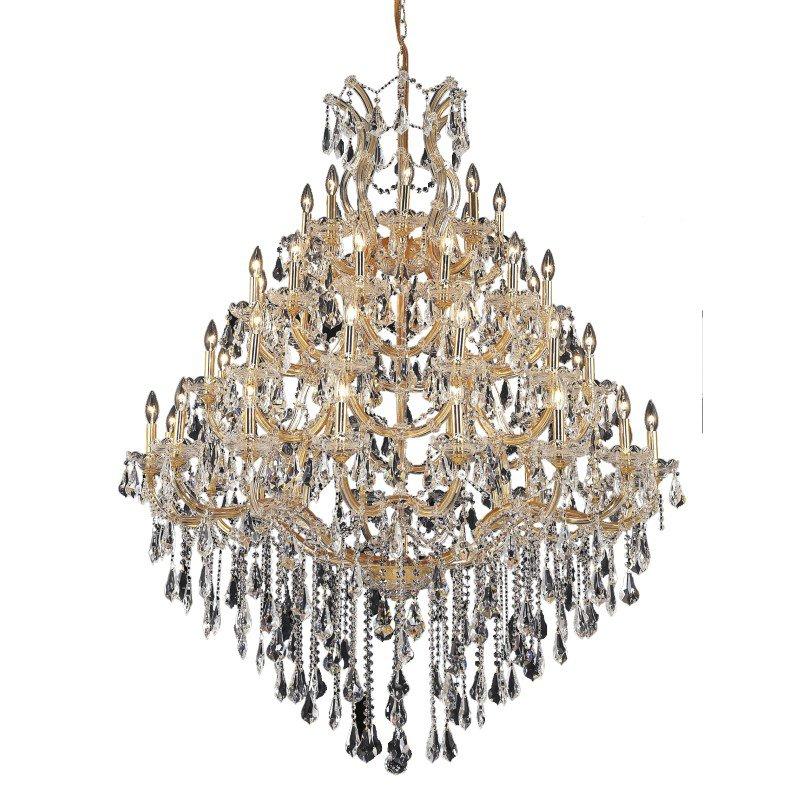 Elegant Lighting Maria Theresa 49 Light Gold Chandelier Clear Swarovski Elements Crystal (2801G46G/SS)