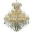 Elegant Lighting Maria Theresa 49 Light Gold Chandelier Golden Teak (Smoky) Swarovski Elements Crystal (2801G60G-GT/SS)