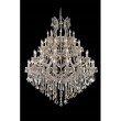 Elegant Lighting Maria Theresa 49 Light Golden Teak Chandelier Golden Teak (Smoky) Swarovski Elements Crystal (2800G46GT-GT/SS)