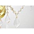 Elegant Lighting Maria Theresa 5 Light Gold Wall Sconce Clear Elegant Cut Crystal (2800W5G/EC)