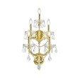 Elegant Lighting Maria Theresa 5 Light Gold Wall Sconce Clear Swarovski Elements Crystal (2800W5G/SS)