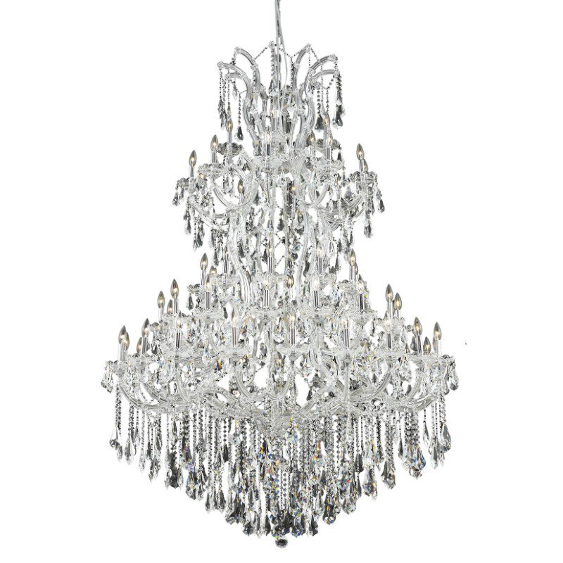 Elegant Lighting Maria Theresa 61 Light Chrome Chandelier Clear Royal Cut Crystal (2801G54C/RC)