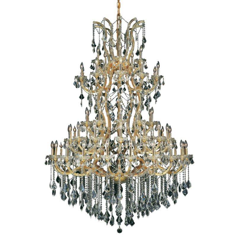 Elegant Lighting Maria Theresa 61 Light Gold Chandelier Clear Elegant Cut Crystal (2800G54G/EC)