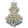Elegant Lighting Maria Theresa 61 Light Gold Chandelier Clear Royal Cut Crystal (2800G54G/RC)