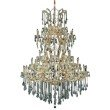 Elegant Lighting Maria Theresa 61 Light Gold Chandelier Clear Swarovski Elements Crystal (2801G54G/SS)